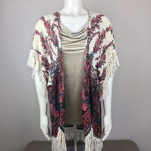Umgee Cream and Red Kimono